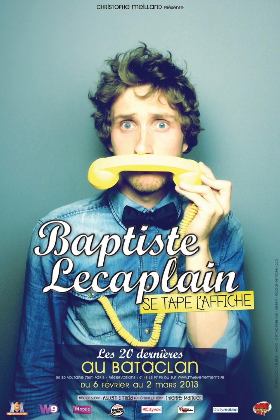 Vu au théâtre : Baptiste Lecaplain se tape l'affiche