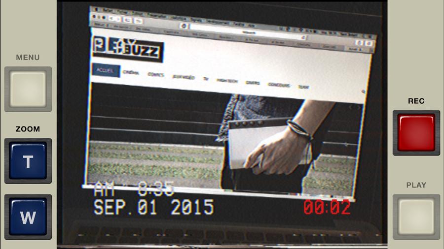Lors d'un enregistrement, les infos sont à l'écran.