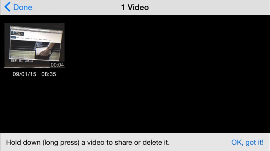 Toutes vos vidéos tournées se retrouvent dans la galerie.