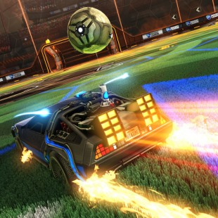 Une Delorean dans Rocket League !