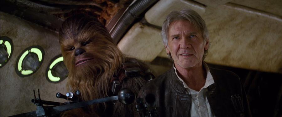 Quel plaisir de revoir le célèbre duo Hal Solo et Chewbacca qui n'a pas pris une ride...