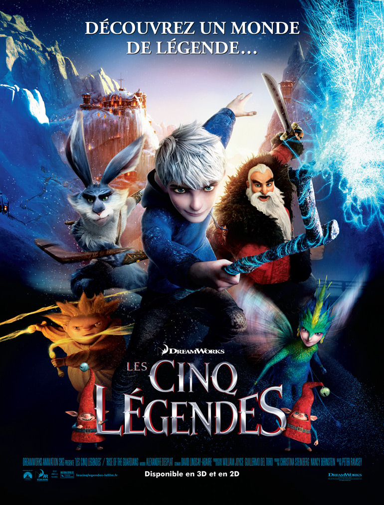 Vu au cinéma : Les Cinq Légendes