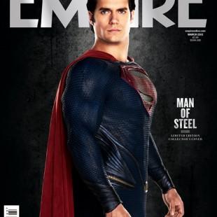 Man Of Steel en couverture du magazine Empire.