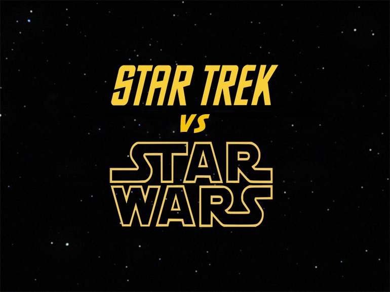 Star Trek versus Star Wars, les deux franchises s'affrontent!