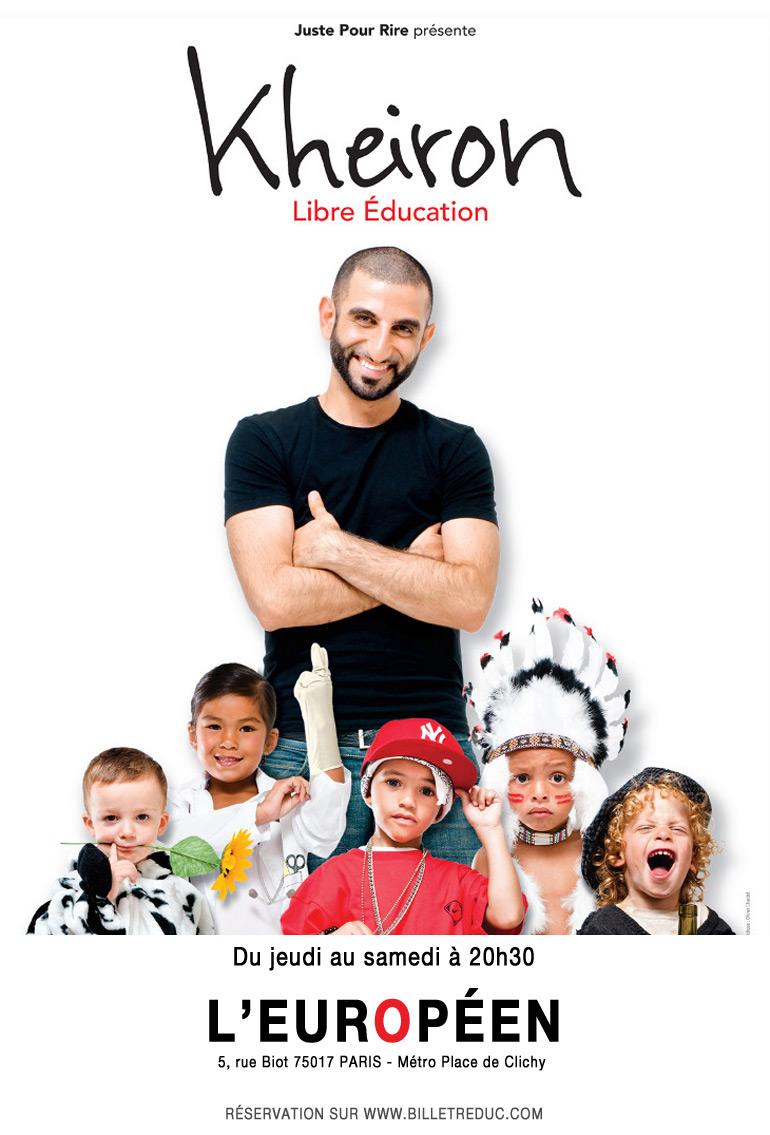 Vu au théâtre : Kheiron, libre éducation