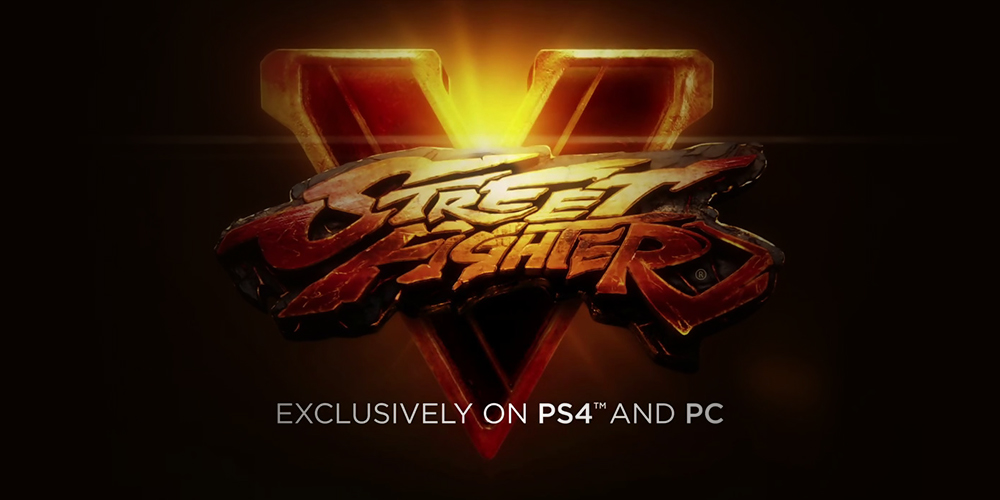 Street Fighter 5 exclusif PS4 et PC !