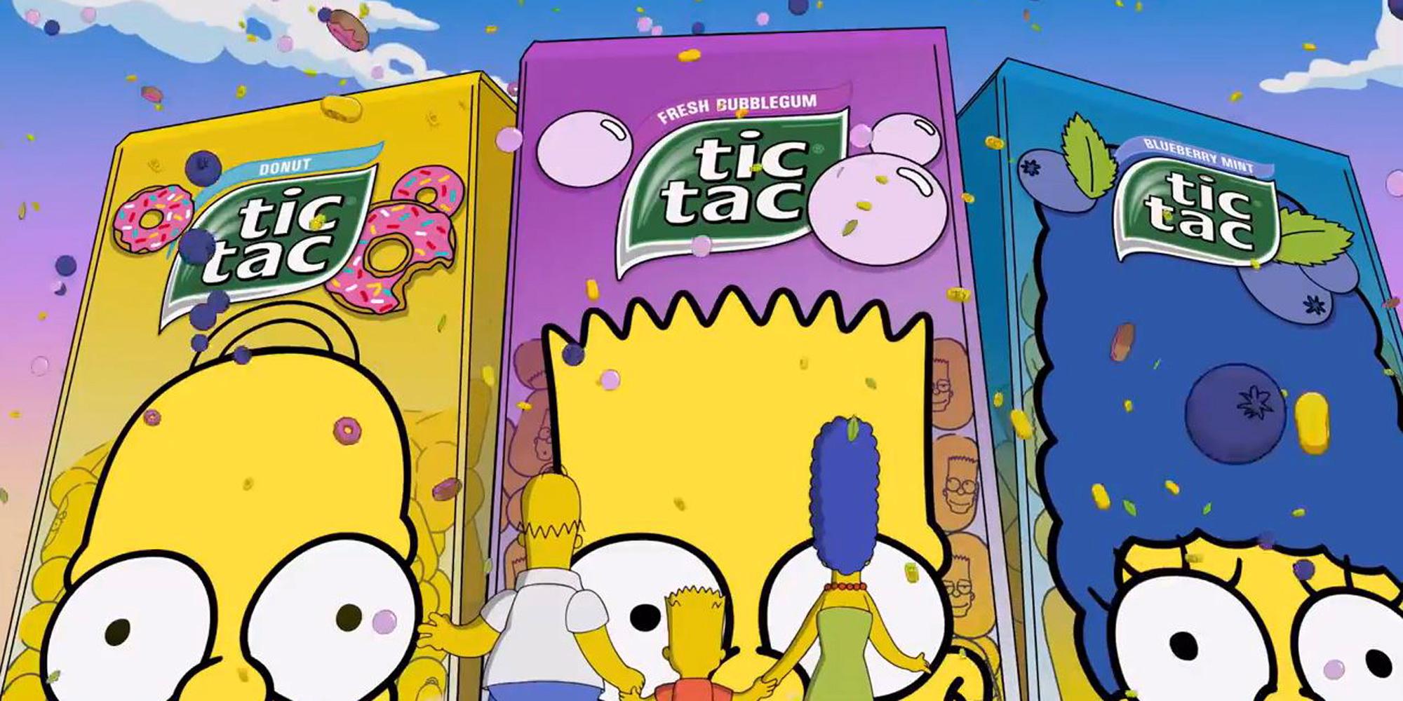 Les Simpsons maintenant en Tic-Tac !