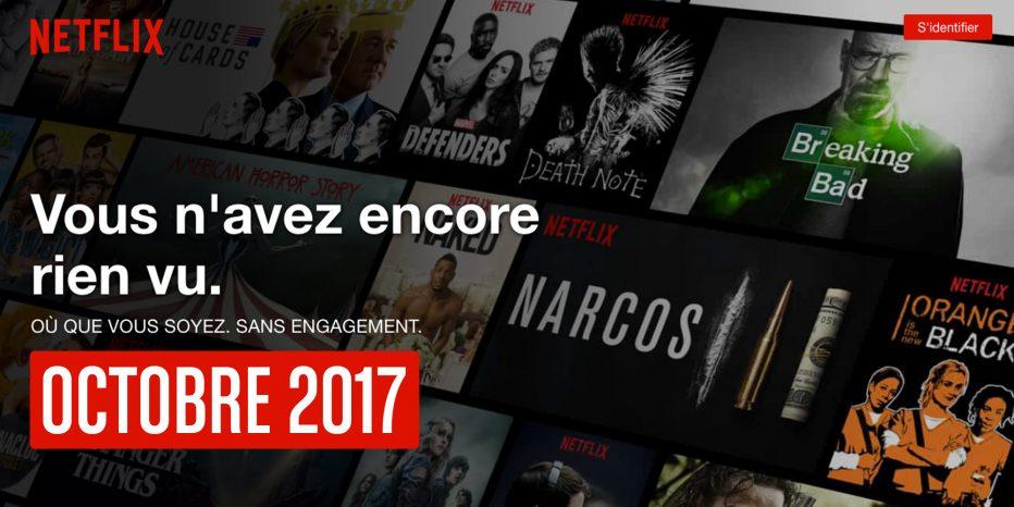 En octobre 2017 sur Netflix…
